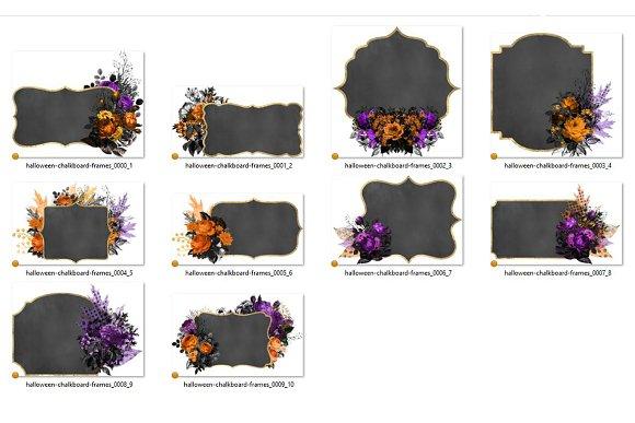 Chalkboard Halloween Frames ~ Illustrations ~ Creative Market