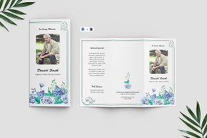 Trifold Funeral Program Template V11