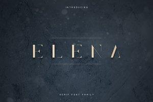 Elena Luxe Serif font | -50%