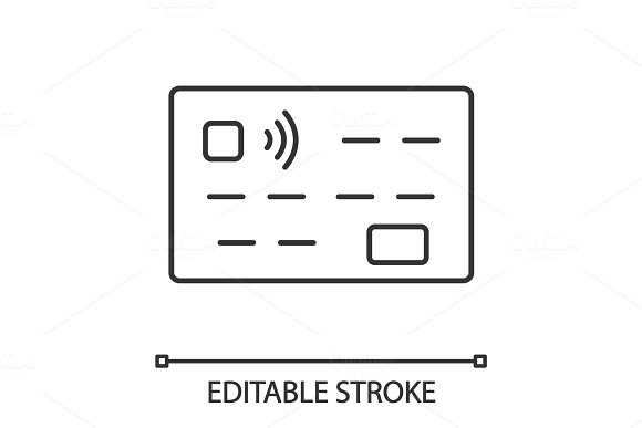 Credit card linear icon