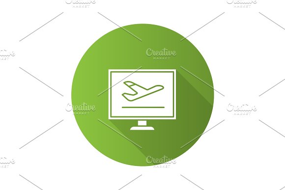 Airplane tickets online booking icon