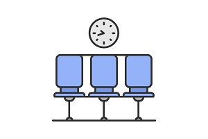 Waiting hall color icon