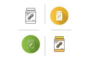 Peanut butter jar icon
