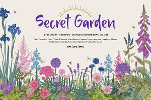 Secret Garden. Floral set