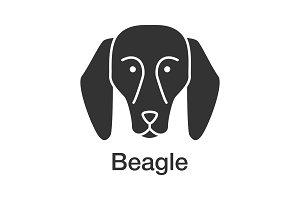 Beagle glyph icon