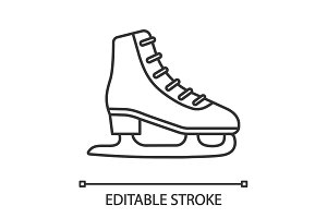 Ice skate linear icon