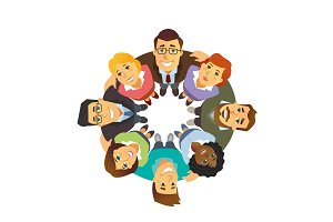Business team - vector illustration