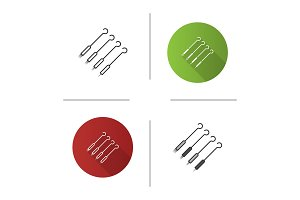 Tattoo needles pack icon