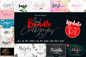 NEW UPDATE_Font Bundle Calligrapy