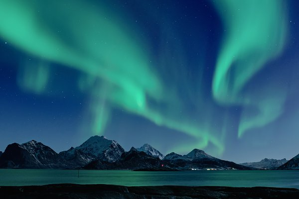 Stock Photos: Nature and travel - Northern Lights in Norway