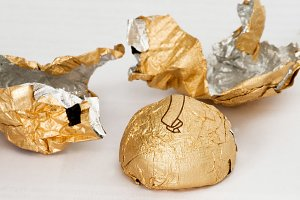 candies in shiny wrapper