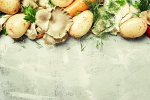 Food background, vegetables, ingredi