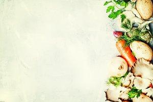 Food background, vegetables, ingredi