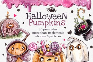 Halloween Pumpkins+bonus: 5 patterns