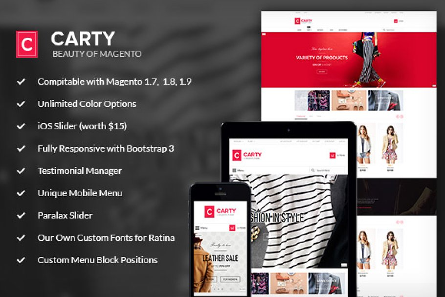Carty - Magento Responsive Theme