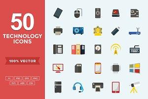 Flat Icons Technology Set
