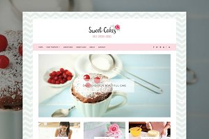 Sweet Cake - Food WordPress Theme