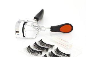 Fake false eyelash with curler