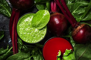 Detox smoothies from raw beets and s