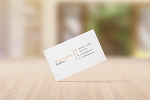 90x55 Business Card Mockup