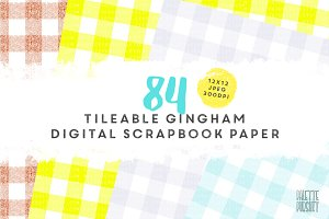 Seamless tileable gingham pattern