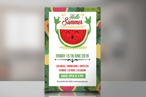 Summer Party Flyer -V821