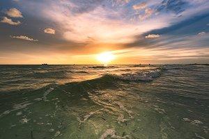Treasure Island beautiful sunset