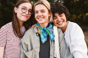 Portrait of beautiful smiling girls