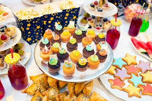 Cupcakes on a festive table