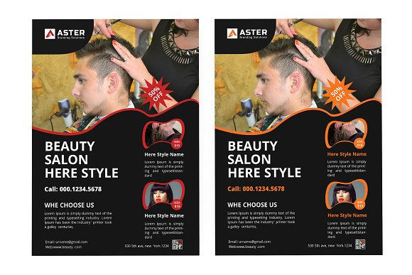 Salon Flyer in Flyer Templates - product preview 3