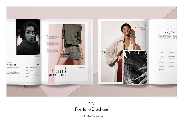 Brochure Templates: Nonola - Portfolio PSD • Mïa Mini