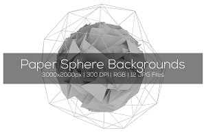 Paper Sphere Backgrounds