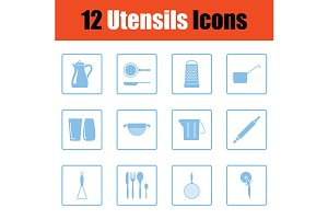 Utensils icon set