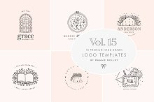 Feminine Premade Logo Bundle Vol. 15 by  in Logos