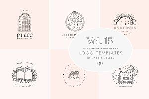 Feminine Premade Logo Bundle Vol. 15
