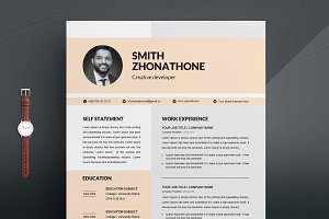 CV Template | MS Word Resume