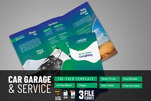 Car Garage Brochure Template