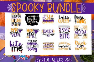 Spooky Bundle - 15 SVG Halloween