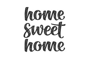 Home sweet home calligraphic