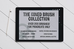 The Mixed Brush Collection-Procreate
