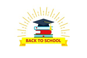 back to school color logo with