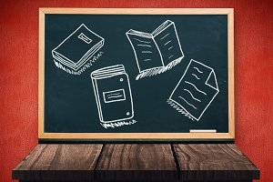 Folder notes and books on education