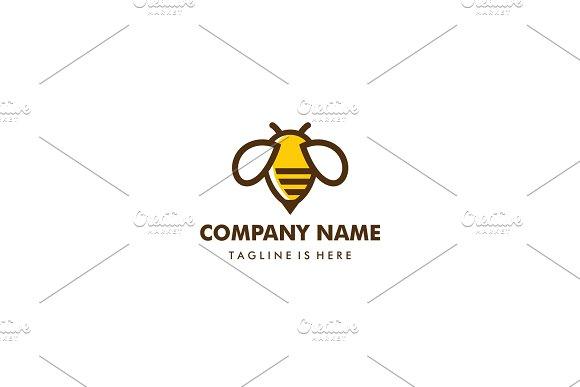 Bumble bee honey hive logo template logo templates creative market bumble bee honey hive logo template logos maxwellsz
