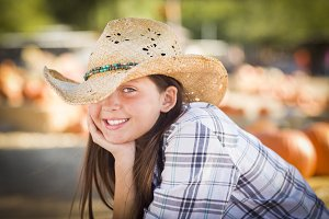 Pretty Preteen Girl Portrait at the