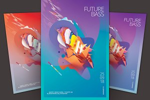 Future Bass Flyer Template