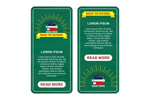 back to school two vertical banners