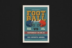 Old American Football Flyer