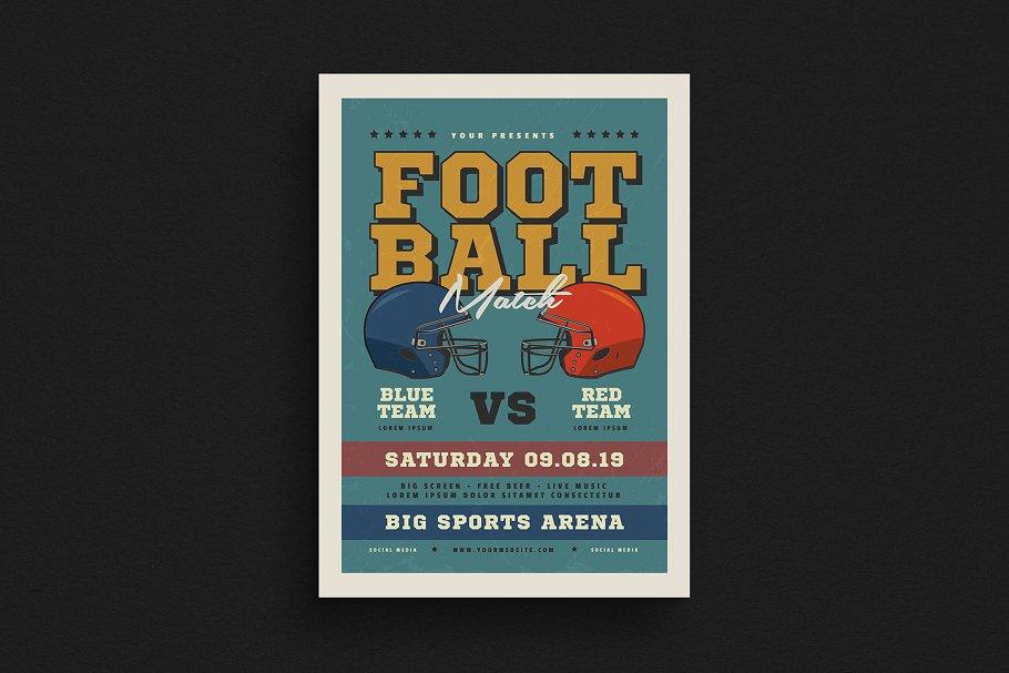 Old American Football Flyer Flyer Templates Creative Market Pro