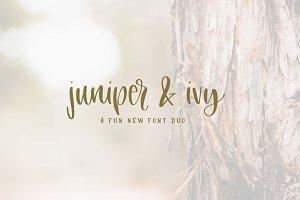 Juniper + Ivy Font Duo