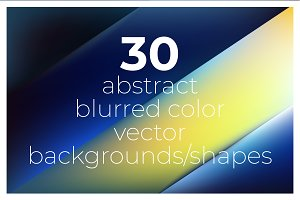 30 blurred color vector backgrounds